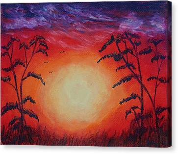 Sunset 1 Canvas Print by Jeanne Fischer
