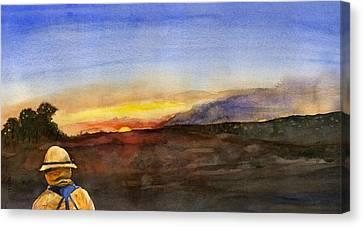 Sunset 18 Fires Canvas Print