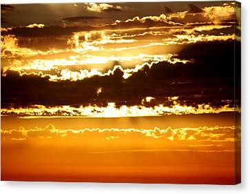 Sunset 2 Canvas Print by Ashley Balkan