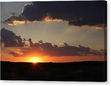 Canvas Print featuring the photograph Sunset 2 by Elizabeth Budd