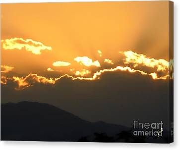 Canvas Print featuring the photograph Sunset 3 by Ze  Di