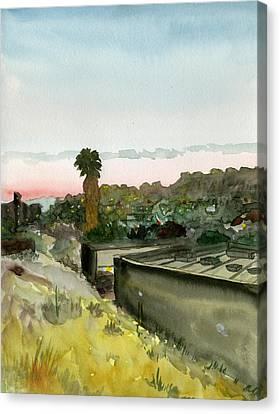 Sunset 25 Lemon Grove Canvas Print