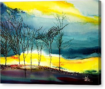 Sunset 3 Canvas Print by Anil Nene