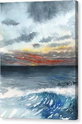 Sunset 32 Behind La Jolla Cove Canvas Print