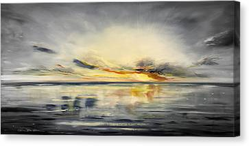Sunset 384 Panoramic Canvas Print