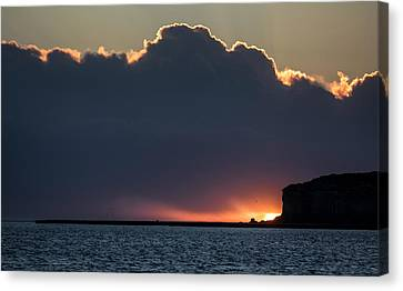 Sunset Above The Valdes Peninsula Canvas Print by Jay Dickman