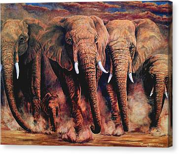Sunset African Giants Canvas Print