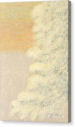 Canvas Print featuring the painting Sunset After The Storm by Cindy Lee Longhini