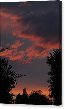 Sunset After The Storm Canvas Print by Mick Anderson