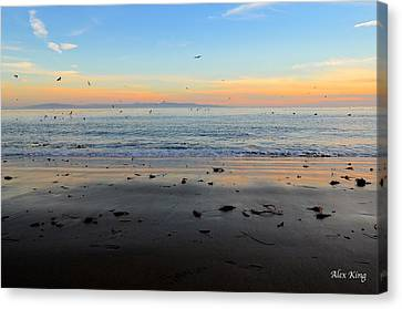 Canvas Print featuring the photograph Sunset by Alex King