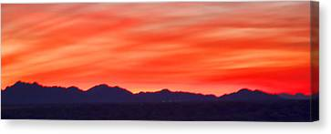 Canvas Print featuring the photograph Sunset Algodones Dunes by Hugh Smith