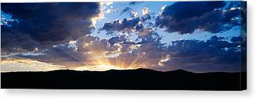 Sunset Along Route 95, Idaho Canvas Print by Panoramic Images