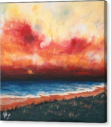 Sunset Canvas Print by Amy Williams