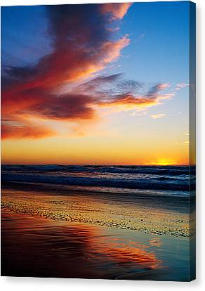 Sunset And Clouds Over Pacific Ocean Canvas Print by Panoramic Images