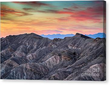 Sunset And Erosion Canvas Print by Mimi Ditchie