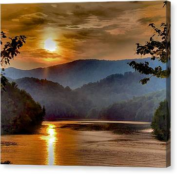 Sunset And Haze Canvas Print by Tom Culver