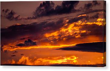 Sunset And Storm Clouds Canvas Print
