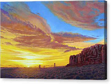 Sunset At Arches Canvas Print