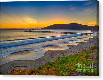 Sunset At Avila Beach Canvas Print
