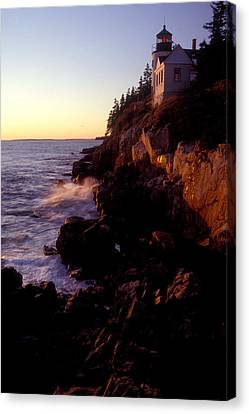 Sunset At Bass Harbor Lighthouse Canvas Print by Brent L Ander