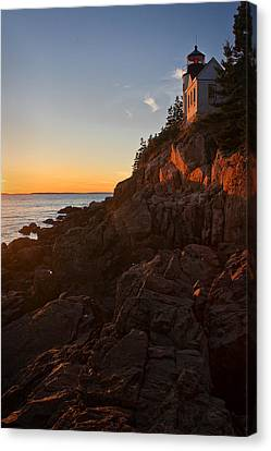 Canvas Print featuring the photograph Sunset At Bass Head   by Priscilla Burgers