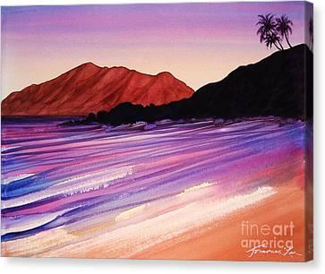 Sunset At Black Rock Maui Canvas Print