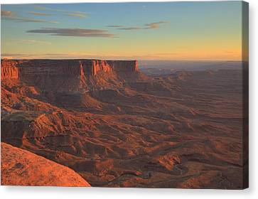 Canvas Print featuring the photograph Sunset At Canyonlands by Alan Vance Ley