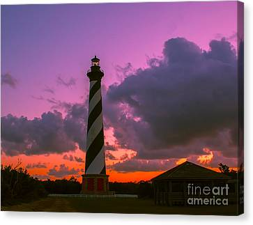 Sunset At Cape Hatteras Canvas Print