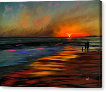 Sunset At Capo Beach In California Canvas Print by Angela A Stanton