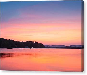 Sunset At Chickawaukee Lake II Canvas Print by Ernest Puglisi