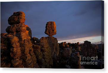 Canvas Print featuring the photograph Sunset At Chiricahua by Keith Kapple