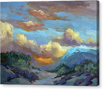 Sunset At Coachella Valley Canvas Print by Diane McClary