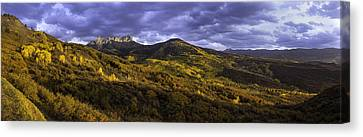 Canvas Print featuring the photograph Sunset At Courthouse Mountain by Kristal Kraft