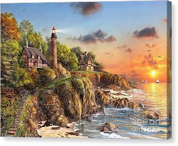 Sunset At Craggy Point Canvas Print