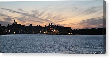 Sunset At Disney Canvas Print