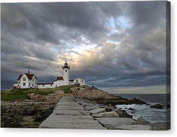 Sunset At Eastern Point Lighthouse Canvas Print