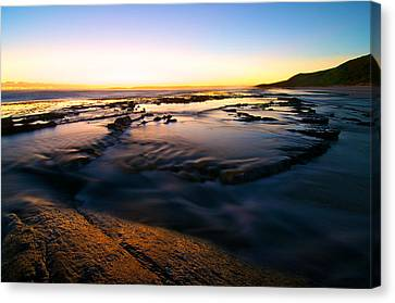 Sunset At Eleven Mile Canvas Print by Sally Nevin
