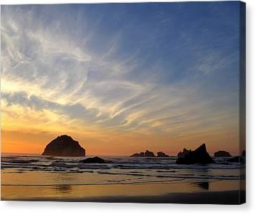 Sunset At Face Rock Canvas Print by Suzy Piatt