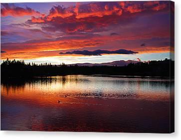 Sunset At Farewell Bend Park Canvas Print by Engin Tokaj