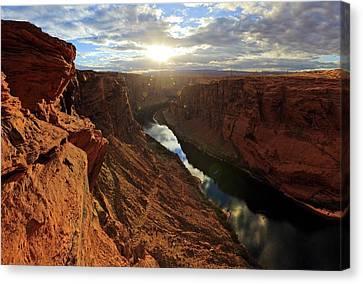 Sunset At Glen Canyon Canvas Print
