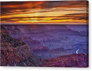 Grand Canyon National Park Canvas Print - Sunset At Grand Canyon by Andrew Soundarajan
