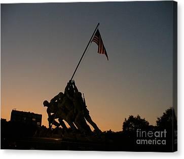 Bravery Canvas Print - Sunset At Iwo Jima  by Lingfai Leung