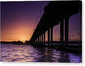 Sunset At Jensen Beach Canvas Print