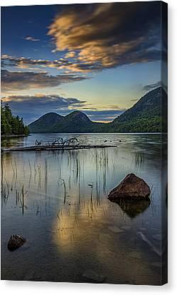 Sunset At Jordan Pond Canvas Print by Rick Berk