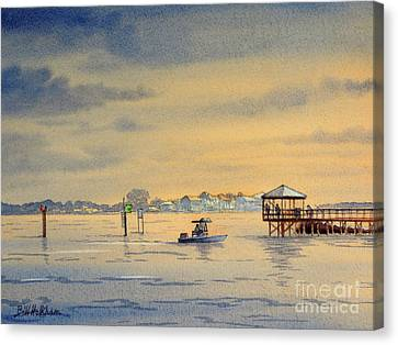 Speckled Trout Canvas Print - Sunset At Keaton Beach by Bill Holkham