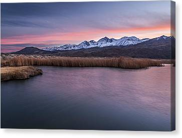 Sunset At Klondike Lake Canvas Print by Cat Connor