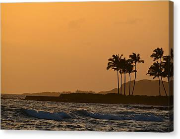 Sunset At Koloa Canvas Print by P S