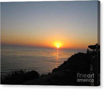 Sunset At Laguna Niguel California Canvas Print