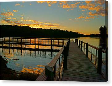 Canvas Print featuring the photograph Sunset At Lake Mcintosh by Chris Fraser
