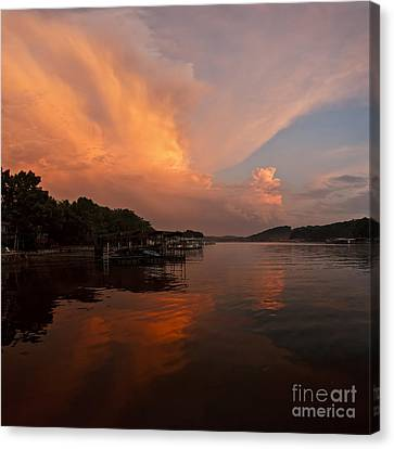 Sunset At Lake Of The Ozarks Canvas Print by Dennis Hedberg